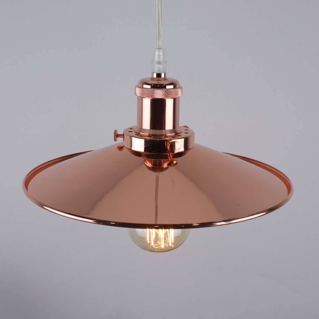 Modern Vintage Industrial Copper Ceiling Light Shade