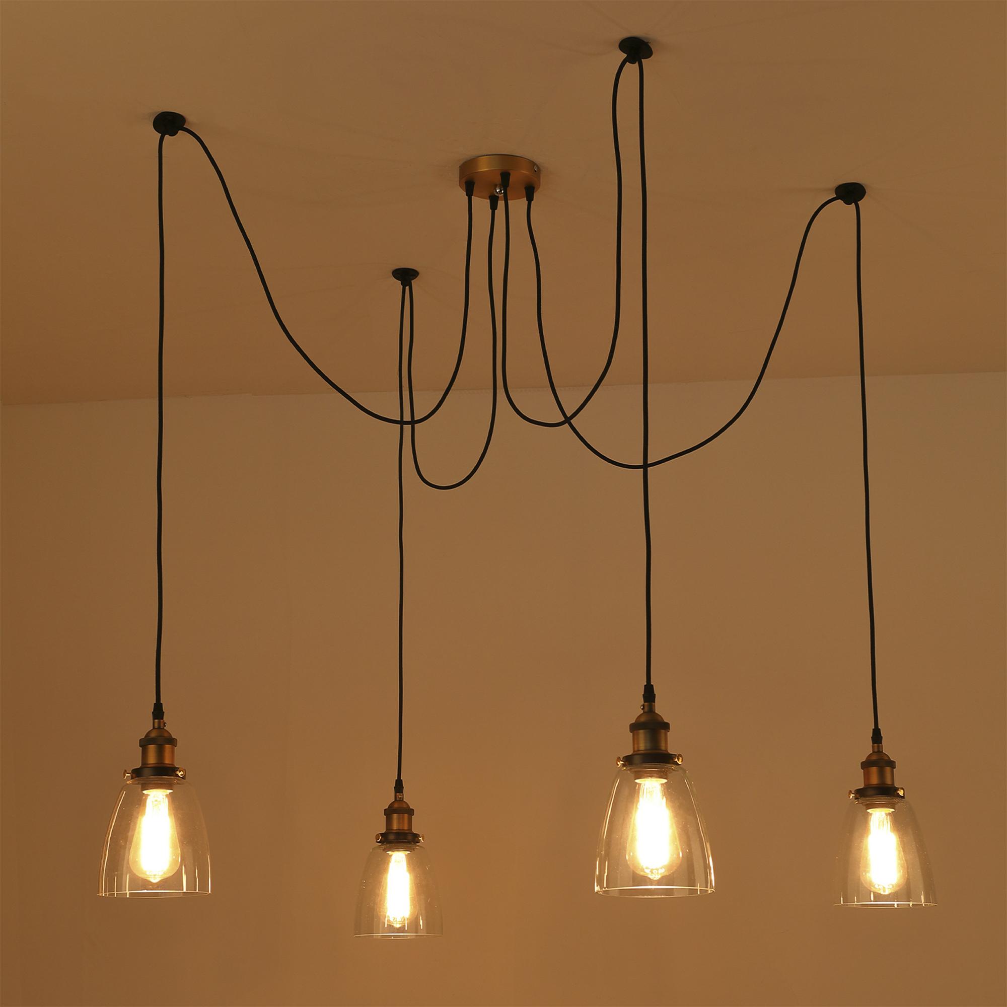 Vintage Spider Industrial Lighting Retro Loft Hanging Suspension Fixtures Decors