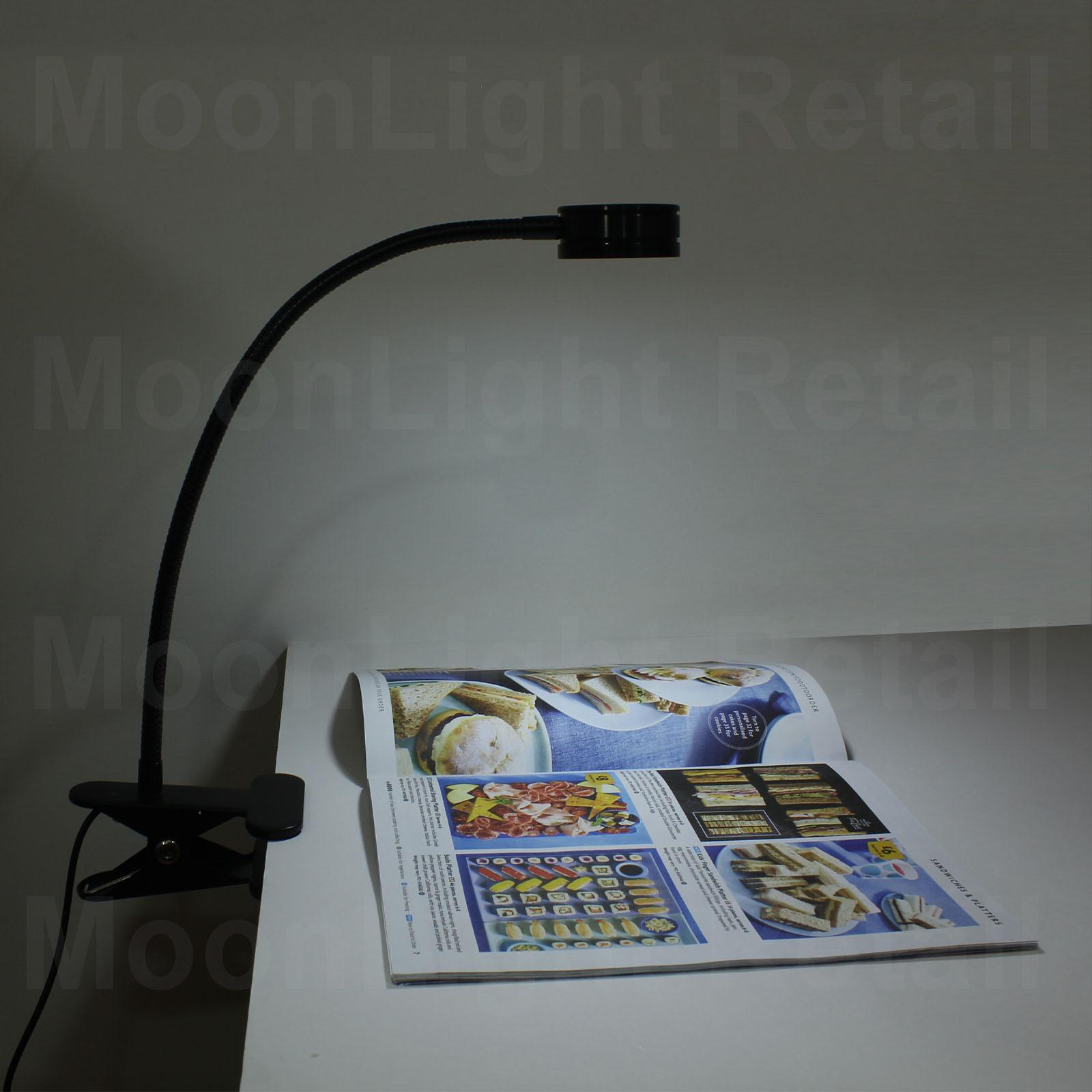 Modern Adjustable Clamp Clip On Led Reading Usb Table Desk Lamp Light Black Moonlight Retail