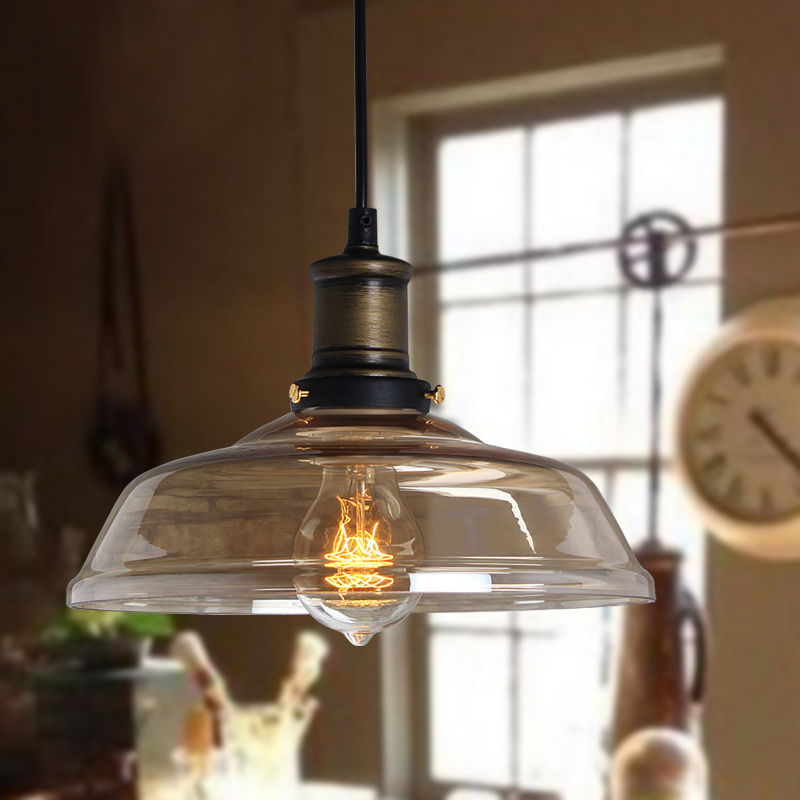 Modern vintage industrial retro loft glass ceiling lamp shade mozeypictures Image collections