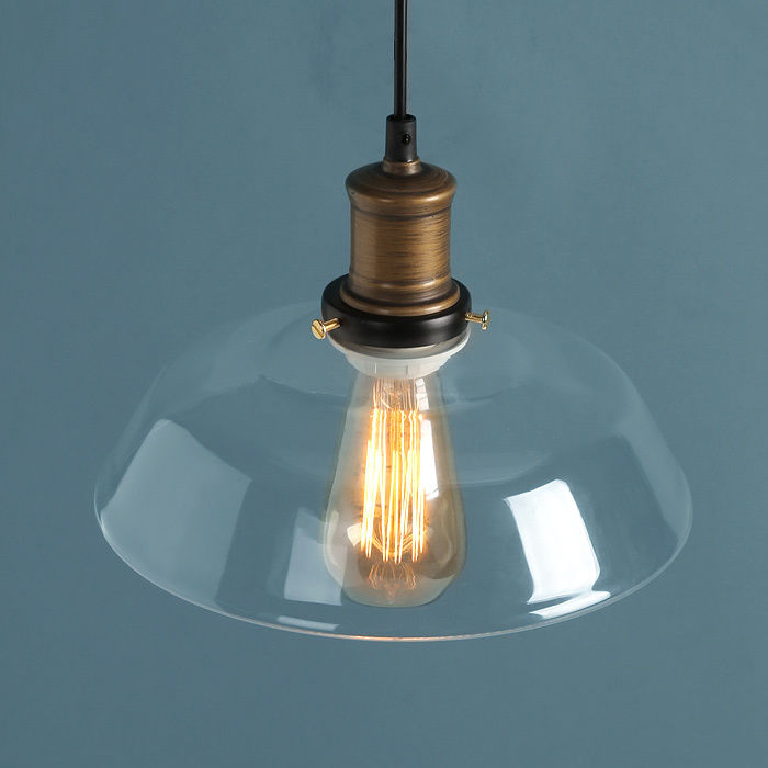 Modern vintage industrial retro loft glass ceiling lamp shade modern vintage industrial retro loft glass ceiling lamp shade pendant light aloadofball Image collections