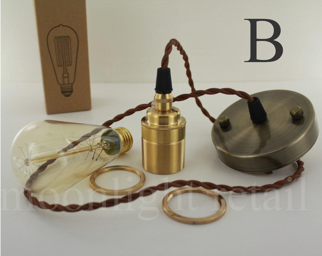 Industrial Edison Vintage Art Deco Pendant Light, Lamp