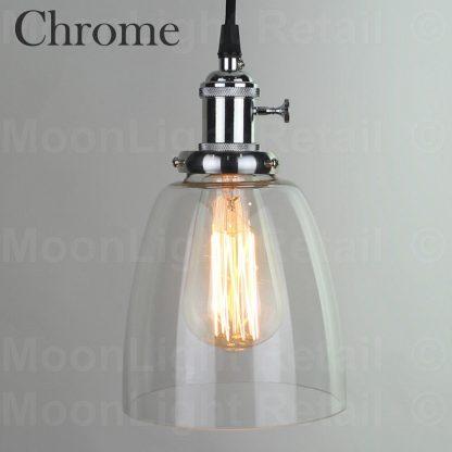 Vintage Ceiling Lamp Cafe Gl Pendant Light Shade Lighting Fixture