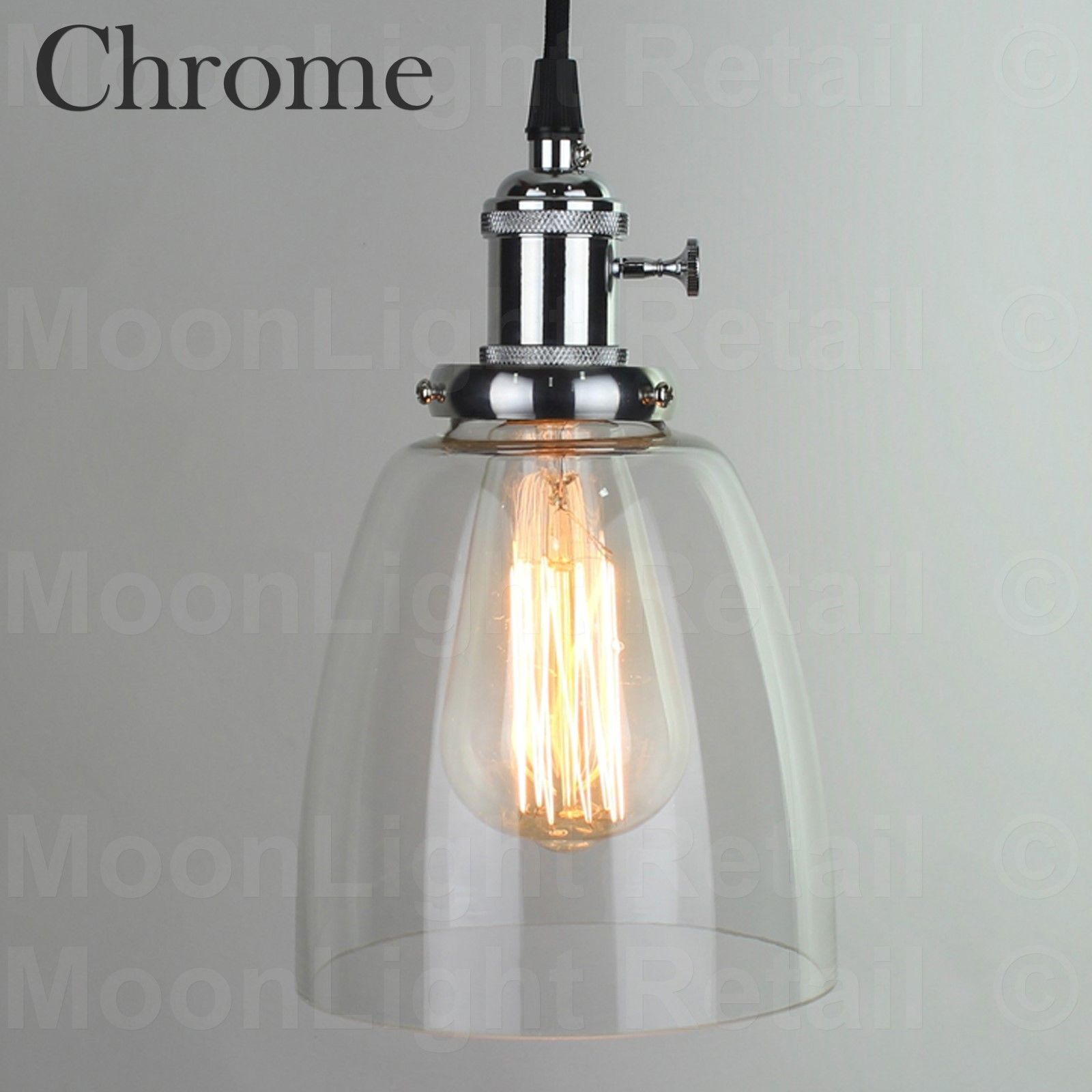 permo with ceiling vintage amazonsmile light fixture anqitue clear glass industrial shade lights pendant funnel flared pin