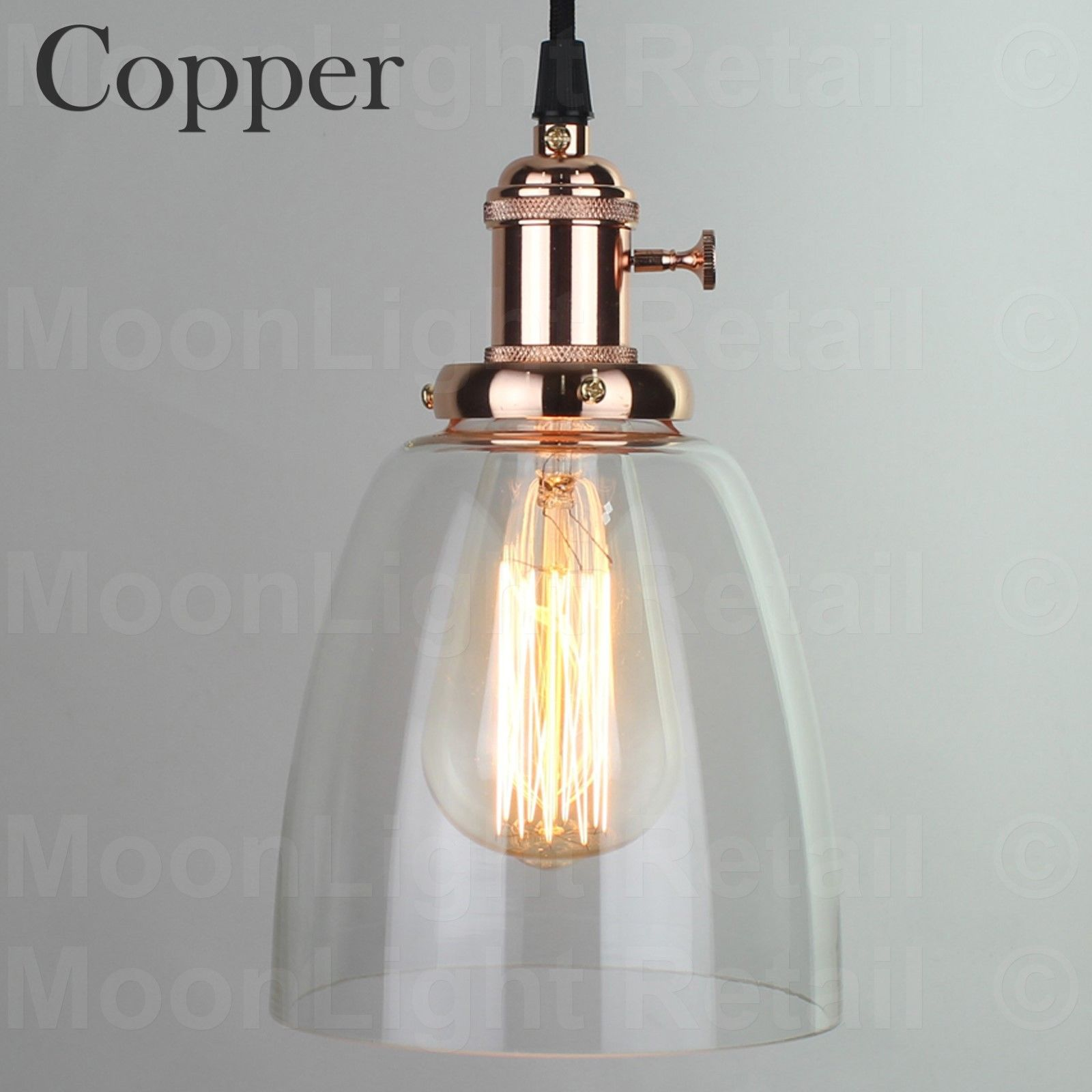 Vintage Industrial Glass Pendant Light: VINTAGE INDUSTRIAL CEILING LAMP CAFE GLASS PENDANT LIGHT