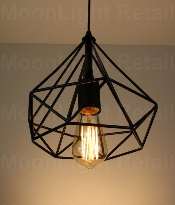 Modern vintage industrial retro loft cage ceiling lamp shade pendant modern vintage industrial retro loft cage ceiling lamp shade mozeypictures Image collections