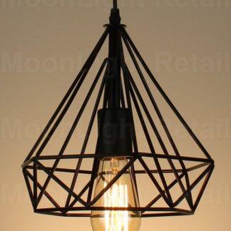 modern vintage industrial retro loft cage ceiling lamp shade pendant