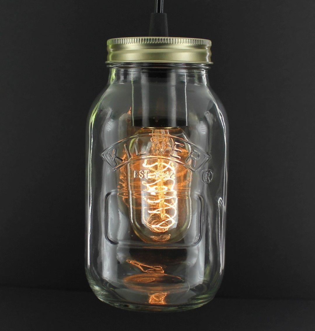 Rustic Industrial Lighting Chandelier Mason Jar Chandelier: Edison Bulb Vintage Industrial Pendant Light Mason Kilner