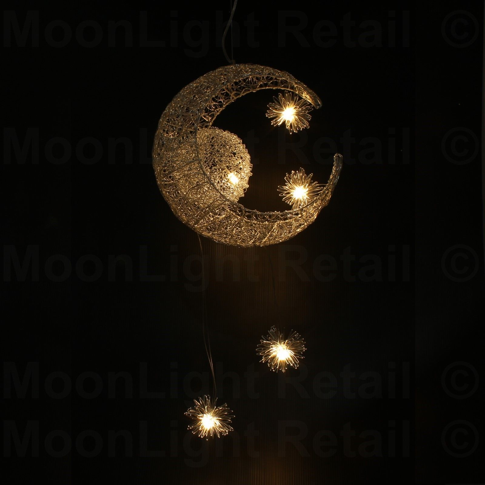 Moon star children kid child bedroom led pendant lamp chandelier moon star children kid child bedroom led pendant lamp aloadofball Choice Image