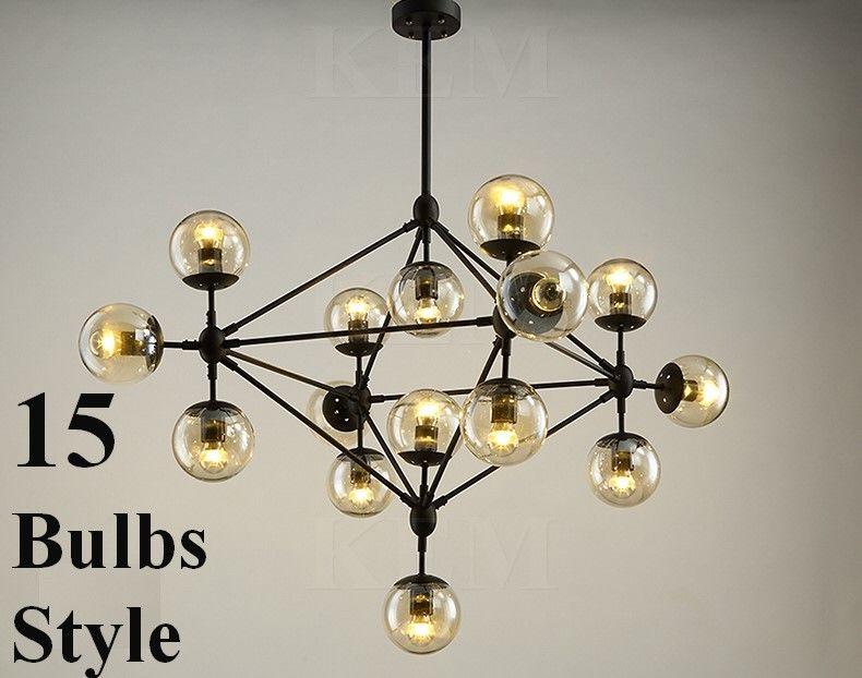 5 10 15 Globe Jason Miller Modo Chandelier Replica Light Lamp Pendant Free Bulbs