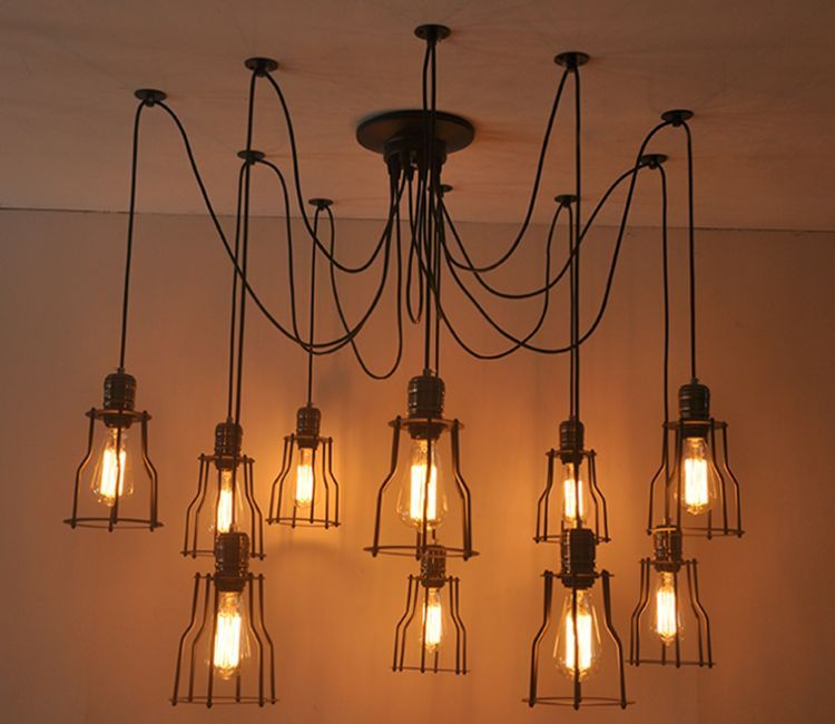 nordic spider tbs the steel room products heads chandelier black living