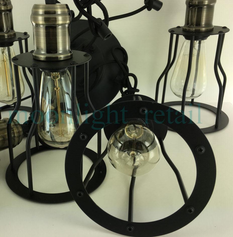 6 8 10 bulb lights edison chandelier suspension ceiling. Black Bedroom Furniture Sets. Home Design Ideas