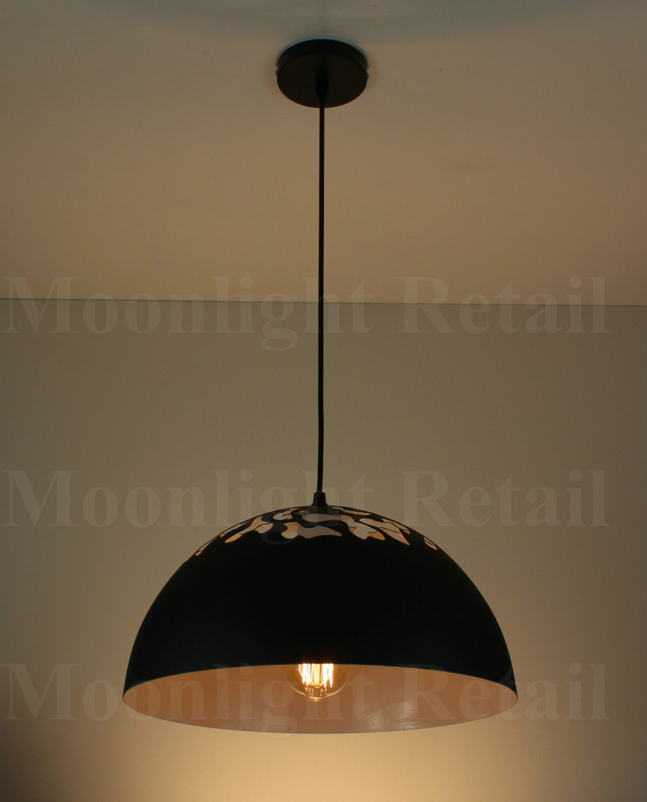 matteo pendant black concrete light in