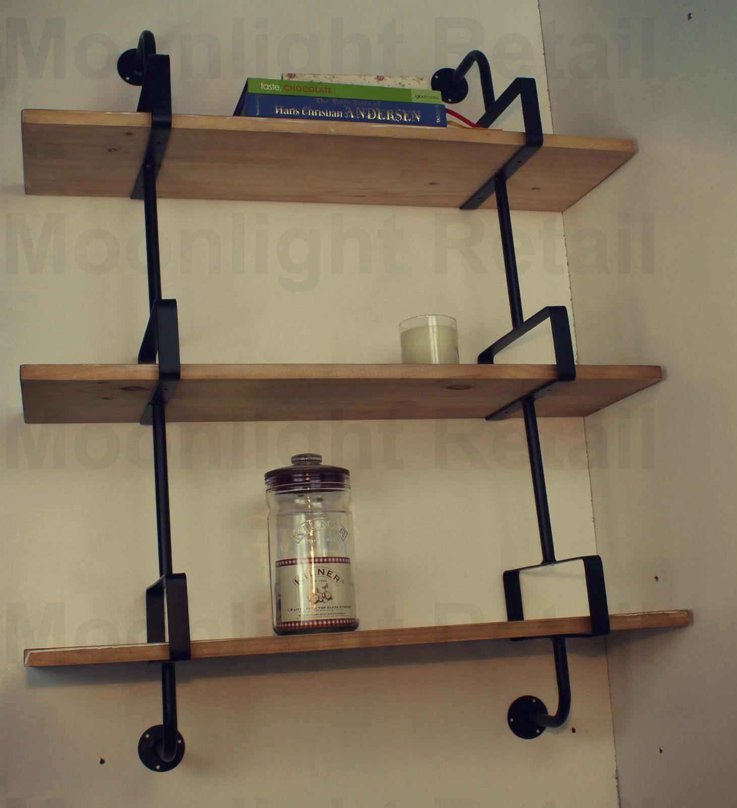 Industrial Urban Style Galvanised Steel Pipe Book Shelf