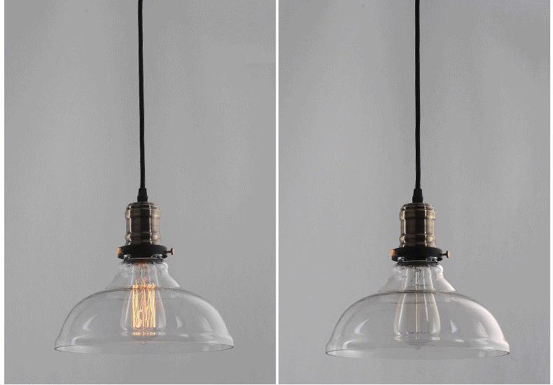 New modern vintage industrial retro loft glass ceiling lamp shade aloadofball Images