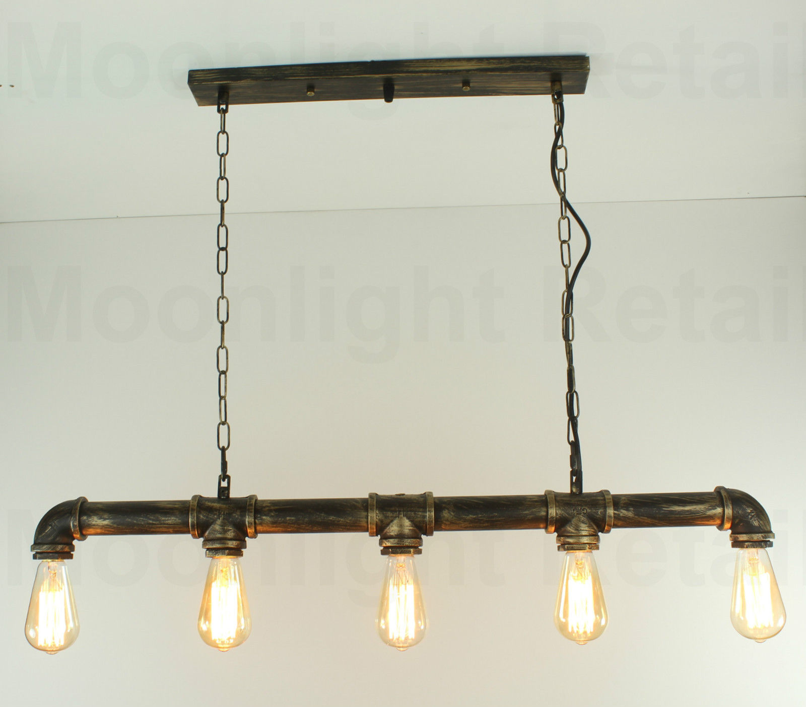 Industrial steampunk lighting iron pipe edison bulb ceiling bar industrial steampunk lighting iron pipe edison bulb ceiling bar light aloadofball Gallery