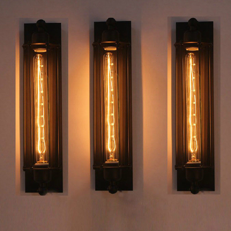Details About New Long Wall Lamp Retro Light Rustic Sconce Vintage