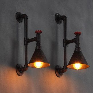 Wall lights moonlight retail industrial wall pipe lamp retro light steampunk vintage wall sconce light aloadofball Images