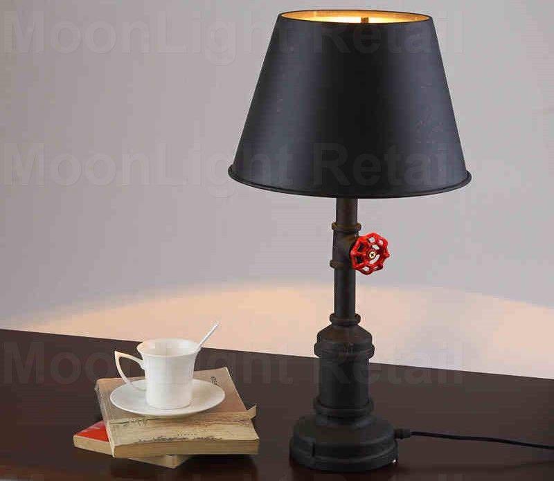 Vintage Retro Style Steel Pipe Desk Table Lamp Edison Steampunk